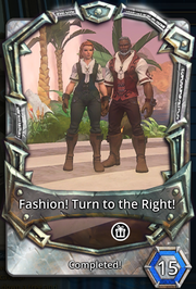 Fashion! turn to the right!