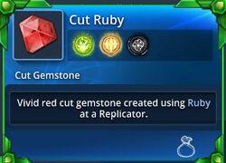 Cut-ruby