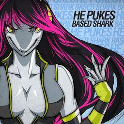 He Pukes Based Shark cover