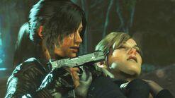 Lara Takes Ana hostage