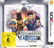 Professor Layton vs Phoenix Wright German Boxart