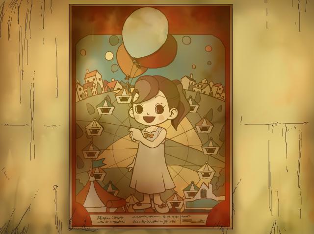 Professor Layton Curious Village - Flora Poster