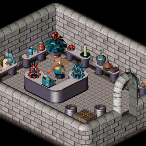 Interior of Mr. Bazoo's Shop