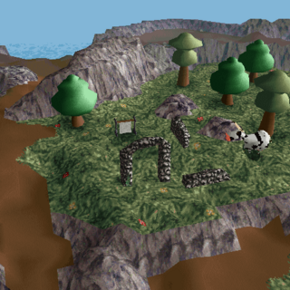 The ruins of the old citadel in LBA2