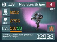 Hastatus Sniper R Lv50 Front