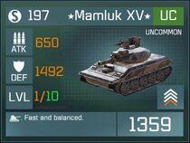 Mamluk XV UC Lv1 Front