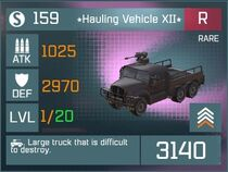 Hauling Vehicle XII R Lv1 Front