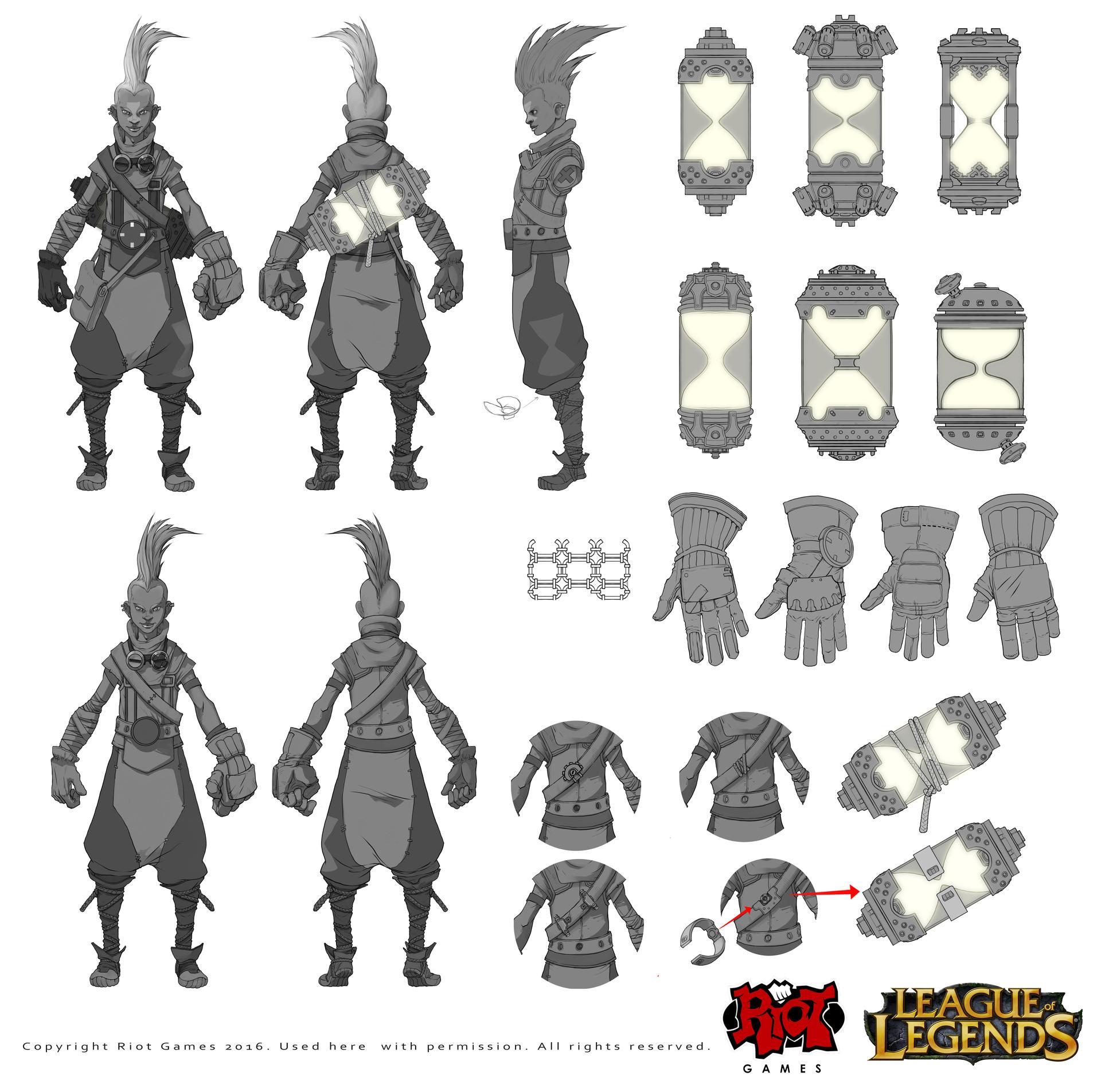 League Of Legends Character Design Contest : Riot creative contest character art ekko — polycount