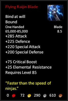 Flying Raijin Blade
