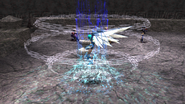 Damia uses Dragoon spell
