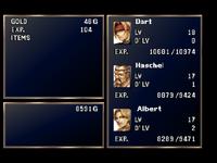 Battle results screen