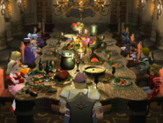 Dinner at the Twin Castle