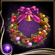 Purple Wreath of Flowers EX
