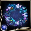 Blue Wreath of Flowers
