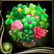 Green Balloon Bouquet EX