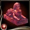 Red Sphinx Figure