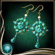 Turquoise Butterfly Earrings EX