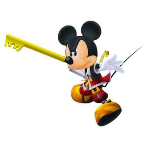 Mickey determined with keyblade