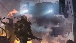 Sci-fi-soldier-armor-rifle-wallpaper-hd-1366x768