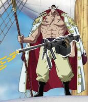 Whitebeard with hehehehe gun