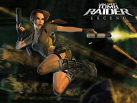 Lara jump and shoot
