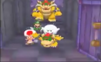 Bowser chases the players