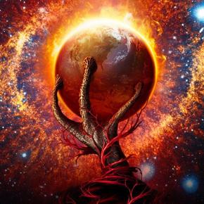 Alien-hand-planet
