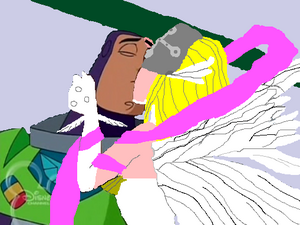 Buzz and angewomon kissing