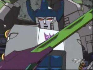 Megatron with sword