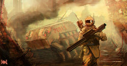 1000x520 12170 Army Man 2d sci fi soldier tank picture image digital art