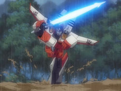 Starscream charge with sword