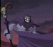 Skeletor cape flapping