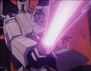 Megatron with energy sword