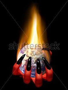 Stock-photo-red-demonic-hand-holding-burning-planet-earth-conceptual-environmental-or-political-image-some-10238566
