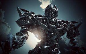Megatron towering