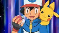Ash and pikachu ready pokeball