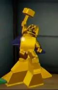 Golden Thor Statue