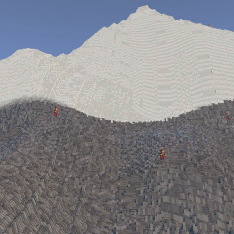 Several Climbers on the mountain.