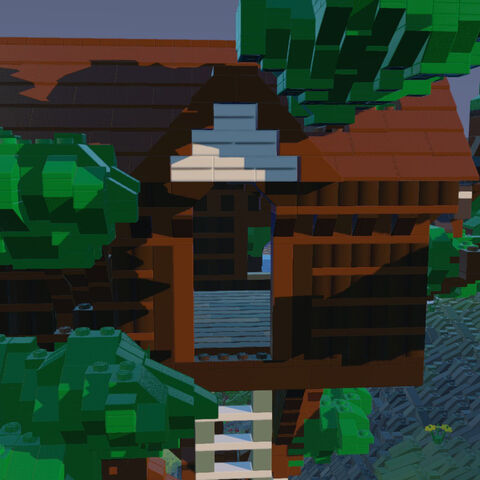 Closeup on a Treehouse.