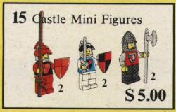 15 castle minifigs