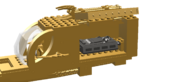 Gold Bolt's Gold Carbonite Transport, Door Open