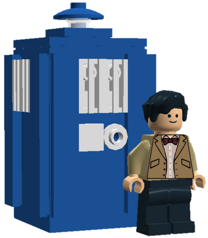 File:11th Doctor and Tardis.png