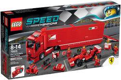 75913 Ferrari F14T & Scuderia Ferrari Truck