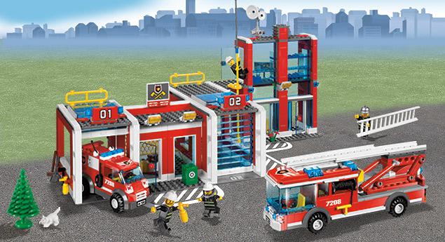 7208 la caserne des pompiers wiki lego fandom powered by wikia. Black Bedroom Furniture Sets. Home Design Ideas