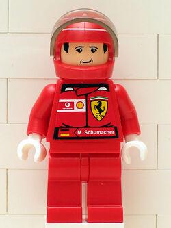 M. Schumacher with Helmet - with Torso Stickers