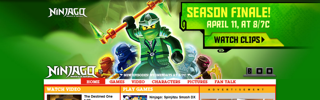 Cartoonnetwork.com Ninjago Artwork