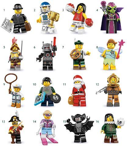File:Lego Series 8 Minifigures.JPG