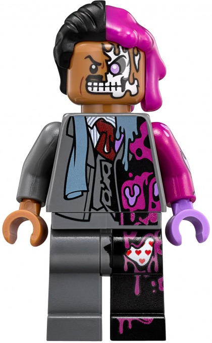 lego two face chase instructions