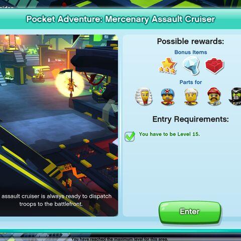 Mercenary Assault Cruiser entrance screen