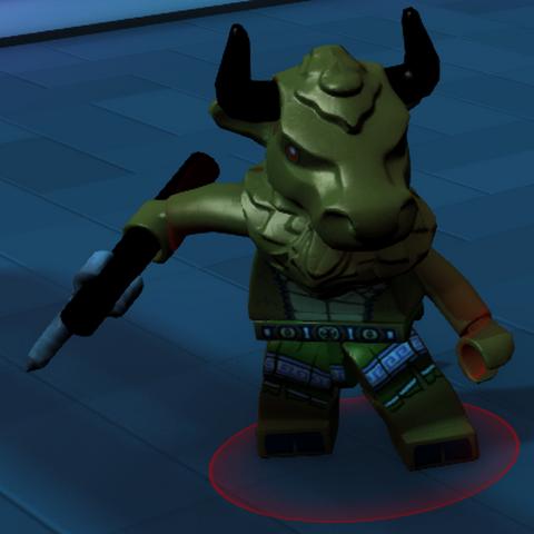 A Minotaur enemy in-game.